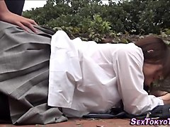 asian in uniform pounded