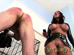 slave gets whipped by domme