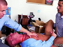 horny gay dudes in the office are down for a hot threesome