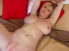 Busty Blonde Sherry Strip and Masturbating 2 of 2