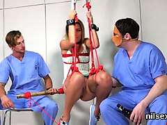 frisky teenie was taken in anal asylum for painful treatment
