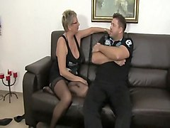 Horny mature Germans share cock and cum