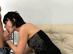 casting couch of a small titted french whore banged n jizzed