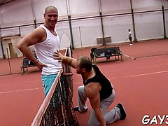 these gay hunks just want some fun at the tennis court