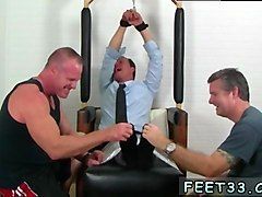 handsome man gets tied up and ticked by his partners