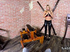 frisky kitten rubs vulva and gets licked and nailed in pov