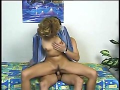 German Milf testing a Boy