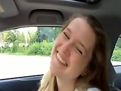 cute french girl fucking dirty on a back seat in my car