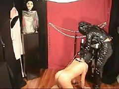 pvc goddess does some anal play