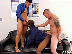 first straight gay sex tube first time the crew that works together bangs together