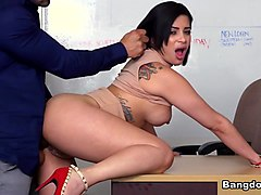 Kitty Caprice in Kitty fucks hard for her job - BangBros