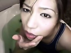provocative japanese girl with a heavenly ass worships a di