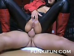 kinky german anal stepmom riding a dick - anal creampie