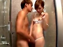 Shemale japanese in shower