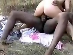 French cuckold hubby films wife with African bull!