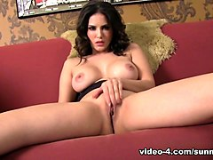 Best pornstar Sunny Leone in Fabulous Solo Girl, Big Ass porn scene
