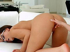 french kissing - lesbian scene with anina silk and jada jones by sapphix