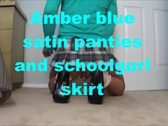 amber school tgirl in some sexy blue classic panties.