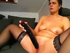 Incredible Homemade movie with Stockings, Solo scenes