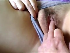 Playing with a hairy MILF vagina I just met.