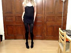 Best Amateur Shemale clip with Stockings, Solo scenes