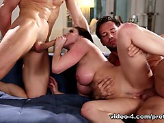 Exotic pornstars Jean Val Jean, Kendra Lust, Johnny Castle in Horny MILF, Brunette sex video