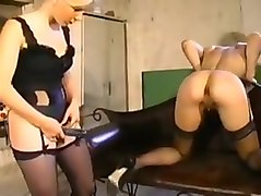 Soeur Maudite. Rough french anal strapon action