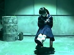 Japanese School Girl in Bondage Basement