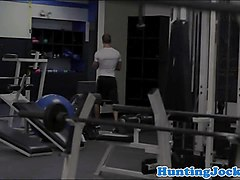 gym jock drilled in ass and cum squirted