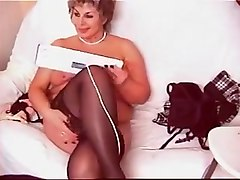 Crazy Amateur clip with Webcam, Stockings scenes