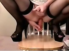 Horny Homemade Gay video with  Masturbation,  Crossdressers scenes