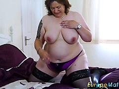europemature busty chubby solo toying masturbation