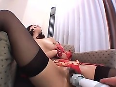 japanese stockings nurse gives a hot blowjob