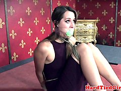 hogtied bdsm sub disciplined by maledom