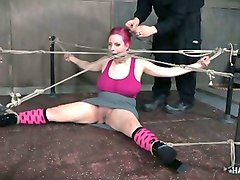this stacked slut is horny as ever and she is really into rope bondage