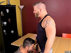 horny bearded hunk screwing younger studs tight ass hole