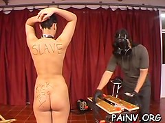 youngsted gets some nipple torture whilst being tied up