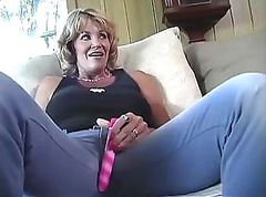 Mature lesbian shows her younger lover how to take care of a pussy