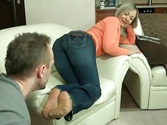Mature Nylon Footjob 2