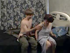 Russian Auntie And Boy