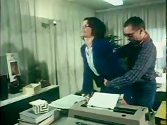 German Vintage Anal Clip Secretary Gets Assfucked