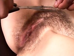 Helena Bush Shaving Her Nasty Hairy Twat
