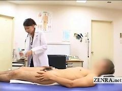 Cfnm Japanese Milf Doctor Bathes Patients Hard Penis