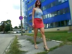 Lenka Gaborova Rides On Bike Then On Dick