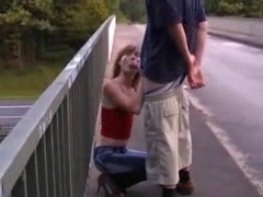 Girlfriend(18+) Gives A Blowjob Above The Highway - Free Sex Video