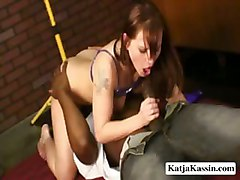 Horny Katja Blows Hard Dick And Gets Fuck