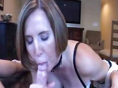 Milf Wearing Stockings And Pantyhose In Maid Outfit Loves To Suck Big Cock