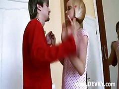 Young Russian Couple Enjoy Cock Sucking
