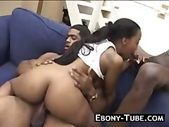 Double Teamed Black Teen