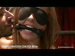 Bondage Blonde Babe Gets Satisfaction To Madness